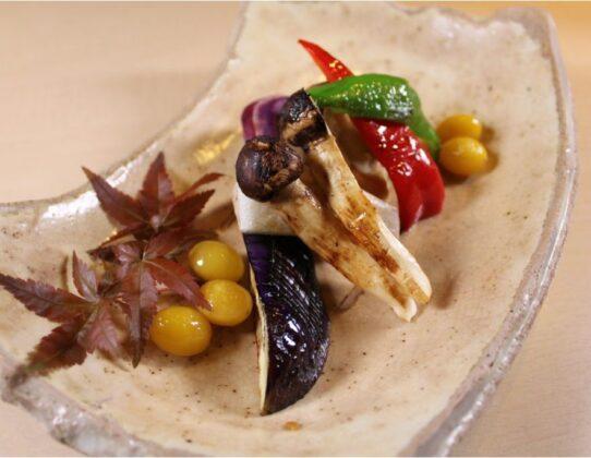 季節野菜の鉄板焼き